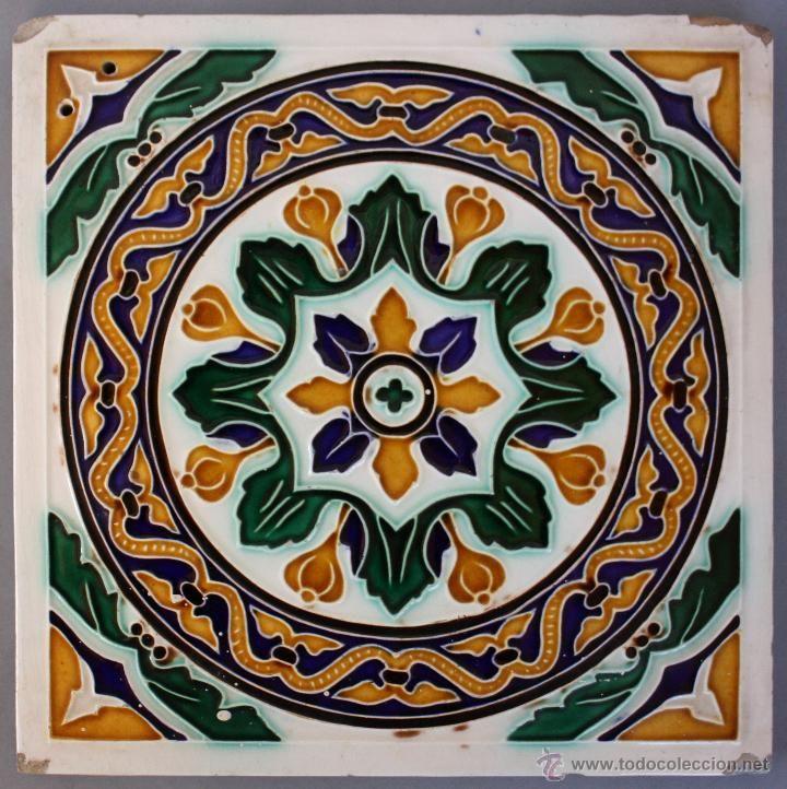 Azulejo sevillano cer mica s xix pickman foto 1 for Azulejos antiguos sevilla