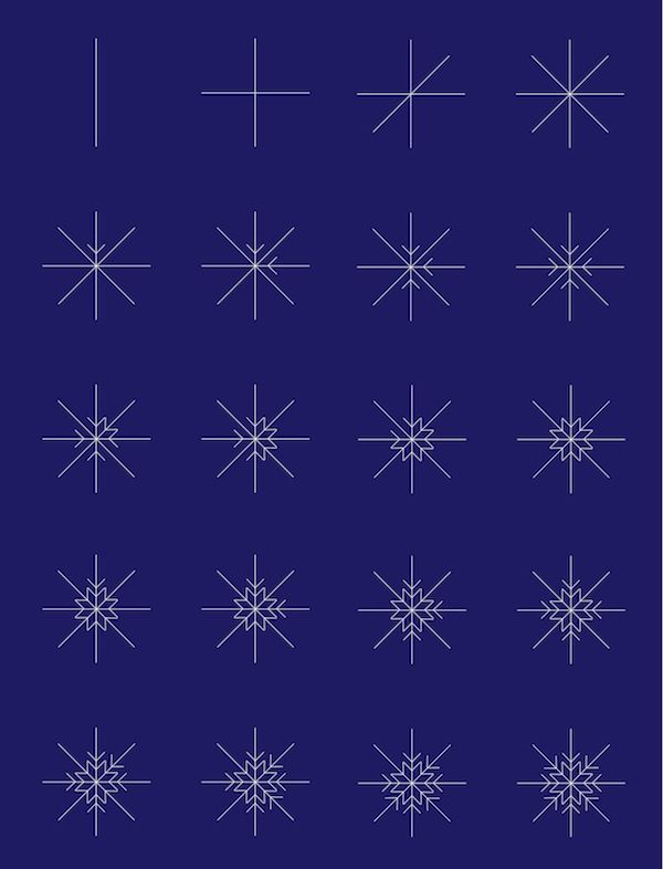 How to Draw Snowflakes Like a Professional - The White Corner Creative