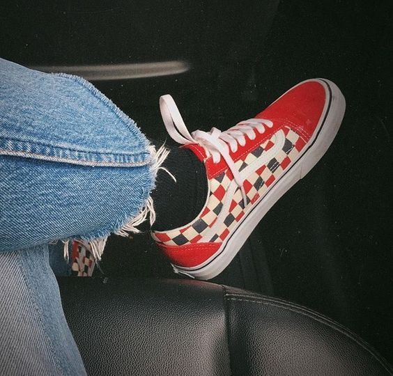 Jumping back to the 80's with your ripped jeans and exotic Vans