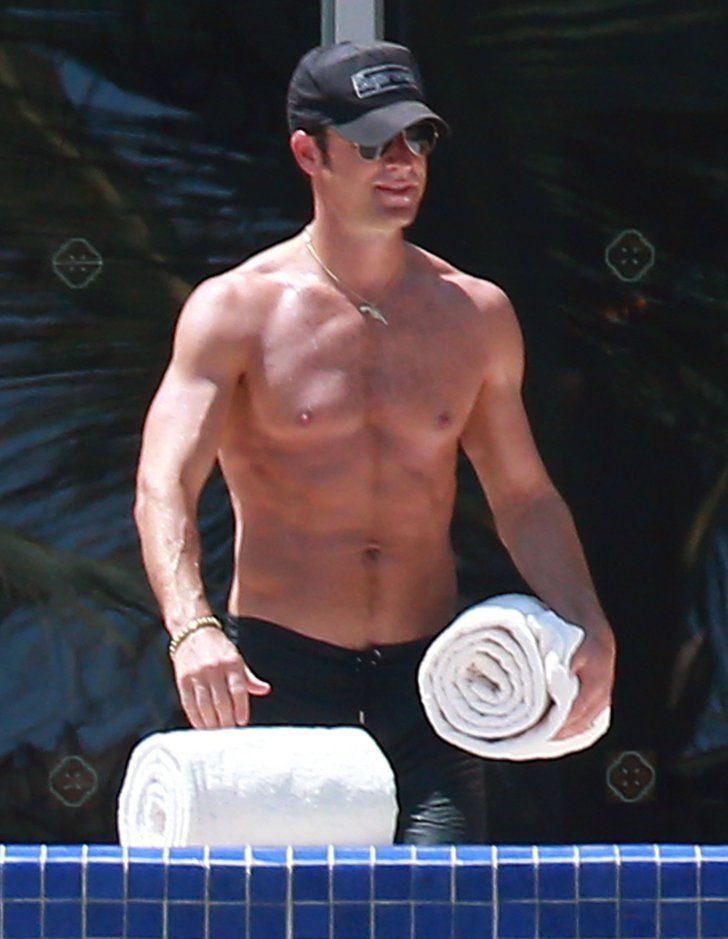 Pin for Later: Age Is Just a Number: Count the Years in Shirtless Guys 42: Justin Theroux