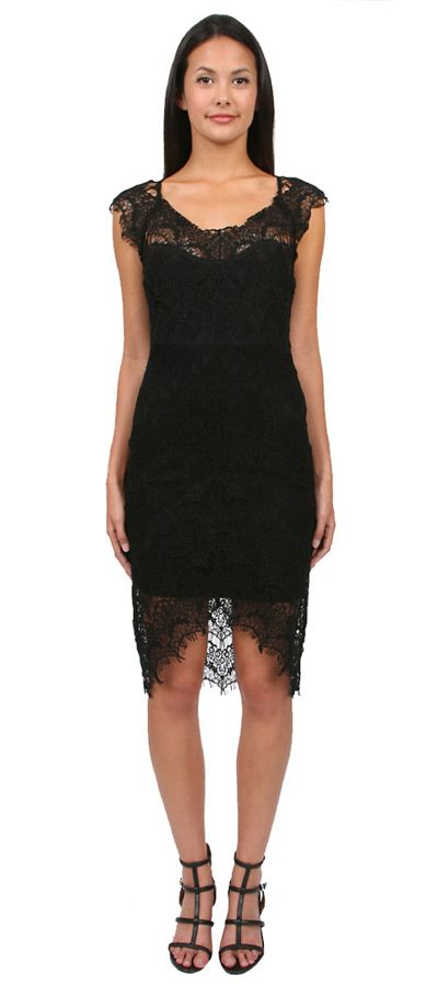 Peekaboo Slip in Black by Free People. Fabric Content: Shell: 55% Nylon, 45% Cotton, Lining: 95% Cotton, 5% Spandex. http://zocko.it/LDlJt