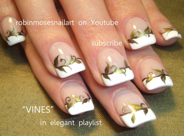 59 best video tutorials nail art design ideas images on easy french manicure with vines robin moses favorite design nail art tutorial 716 prinsesfo Gallery