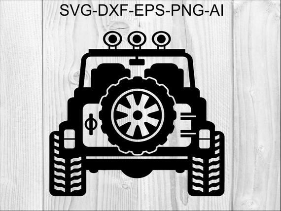 Jeep Svg 3 Jeep 4x4 Back View Wrangler Off Road Etsy Svg Jeep
