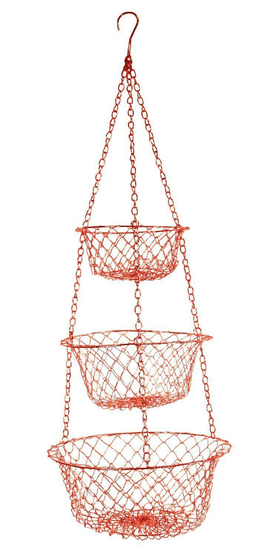 3 Tier Hanging Vegetable Fruit Kitchen Storage Wire Basket