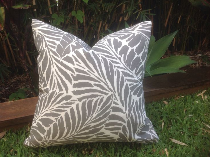 Grey Outdoor Cushions, Palm Malkus Outdoor Cushions, Grey, Turquoise, Black, Outdoor Pillow Covers, Cushion Covers, Modern Cushion Cover by MyBeachsideStyle on Etsy https://www.etsy.com/listing/505427854/grey-outdoor-cushions-palm-malkus