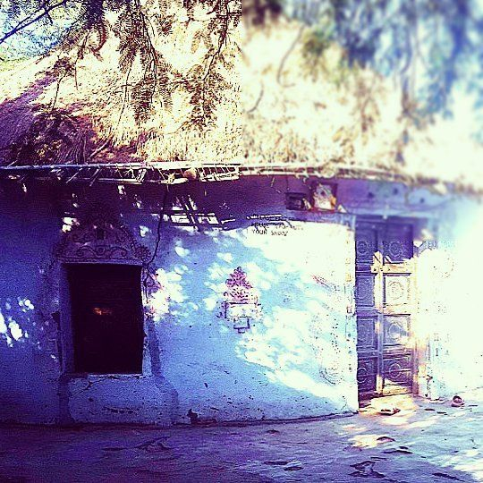 The outsides of a home made by a muttva groom.  The Mutvas from the Banni region of Kutch are among the most prolific when it comes to styles of embroidery.  They had migrated from Sindh many centuries ago most likely in search of fodder for their cattle.  Some of the most beautiful crafts of the Mutvas get created around wedding. From around when a girl is 8 to 9 years old, till the age of 21 or 22, she embroiders 7 kanjeris ( blouses), 21 Godhdis ( quilts) and 2 covers for Thakiyas.  The…