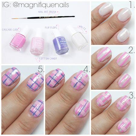 Pinkful Plaid How-to! #nails #nailart #DIY #pinknails - bellashoot.com: Pinkful Plaid How-to! #nails #nailart #DIY #pinknails - bellashoot.com