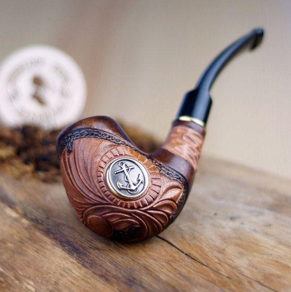 Tubo di fumo di tabacco-pipe in radica  tubo tubo di SherlockPipes