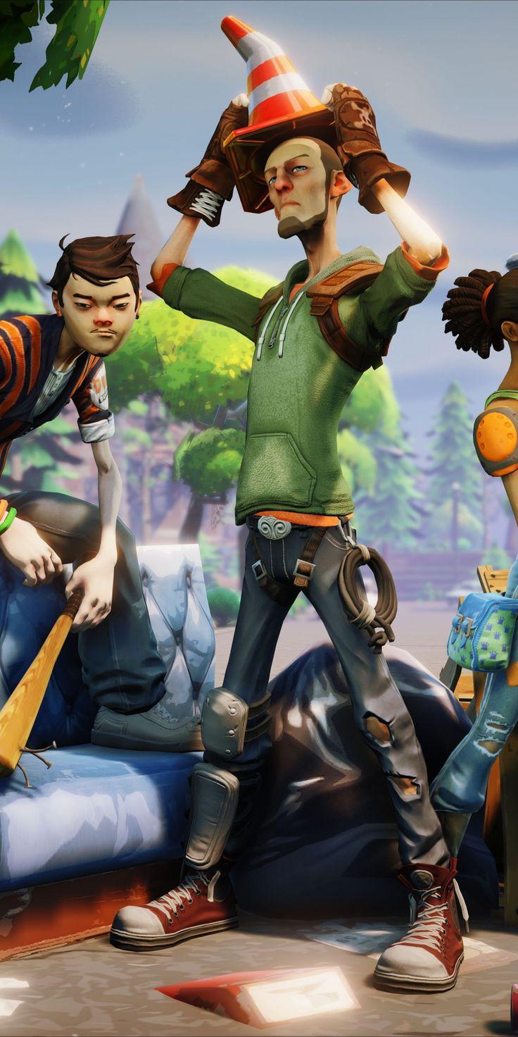 Unreal engine, Fortnite. team, video game, 1080x2160