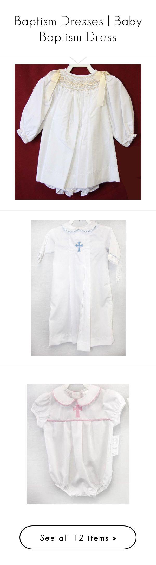 Baptism Dresses | Baby Baptism Dress by bellfas on Polyvore