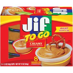 JIF Creamy To Go Peanut Butter, 8ct
