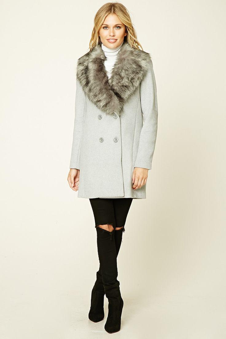 1000  ideas about Faux Fur Collar Coat on Pinterest   Fur collar