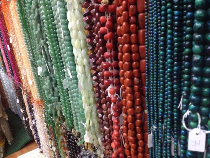 Strands of semi precious stones inspire me. They have a way of putting me into a trance.