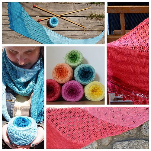 Châle praliné pattern by Tricots & Cie