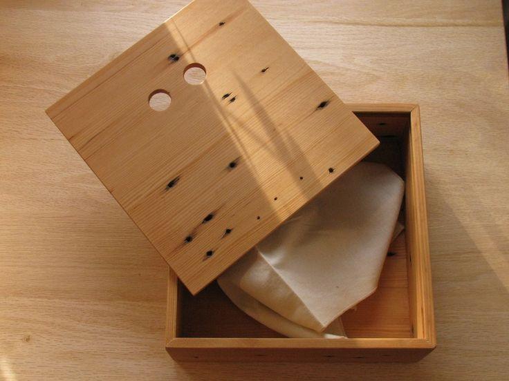 Salvaged Hemlock pie box.
