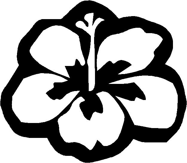 hawaii coloring pages to print hawaii flower coloring page free coloring pages - Surfboard Coloring Pages Print