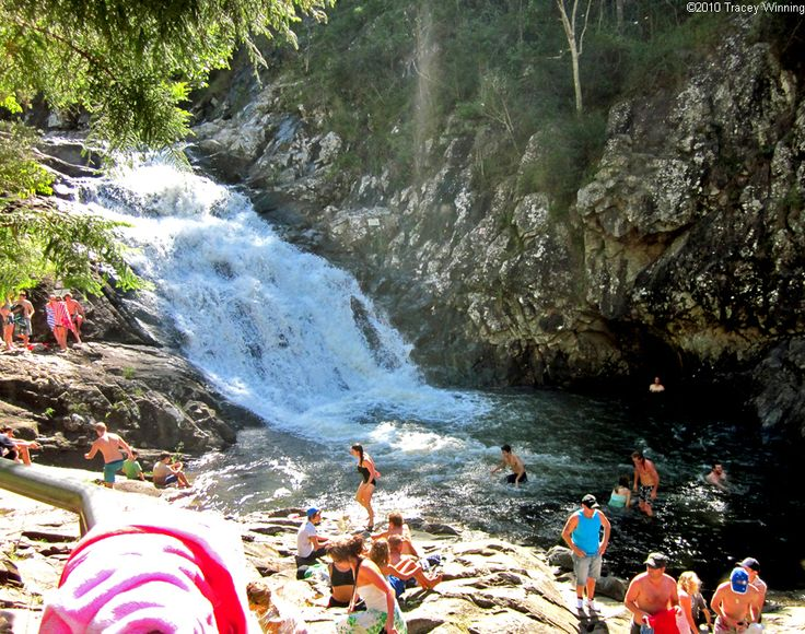 Cedar Creek Falls and rock pools in Mount Tamborine
