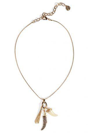 R.J.Graziano R.J.Graziano Vergoldete Halskette mit Haifischzahn – Gold
