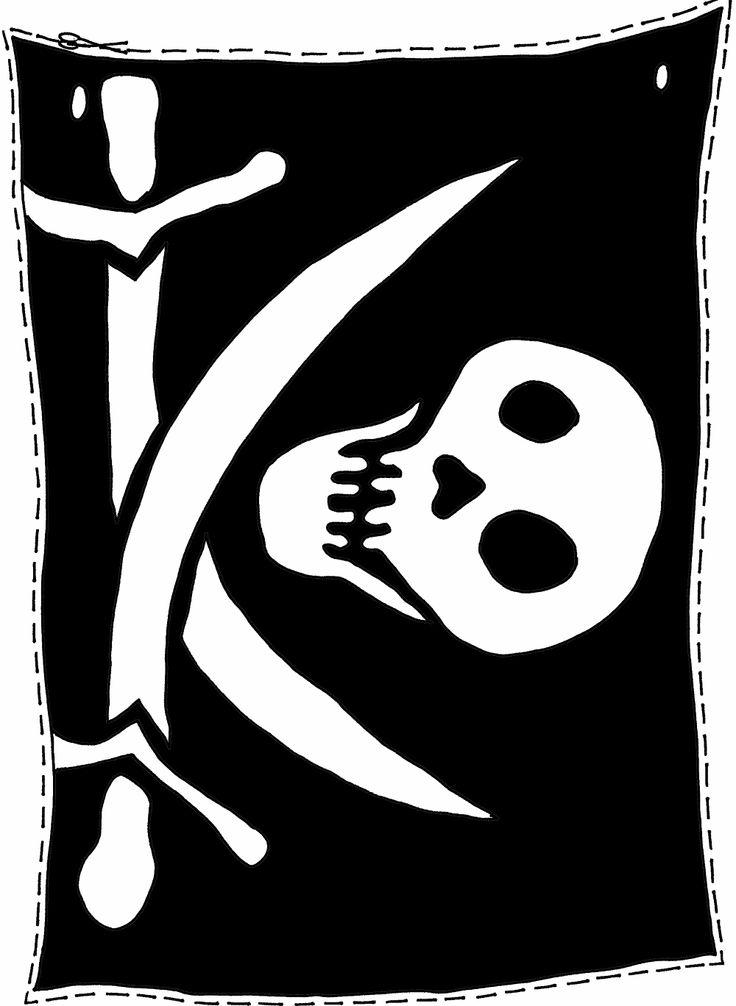 * Maak je eigen piratenvlag!