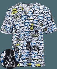 Cherokee Tooniforms Stormtroopers Unisex Print Scrub Top