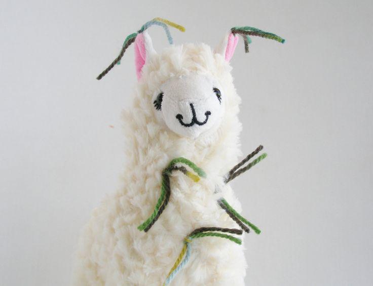 Plush llama. Little Llama Decorated with Tassles ...Just like the Llamas of Fox Hill! by FoxHillLlamas on Etsy