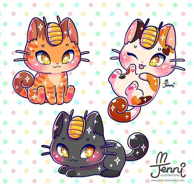 Meowth In Everyday Cat Form Meowth Pokemon Luckycat