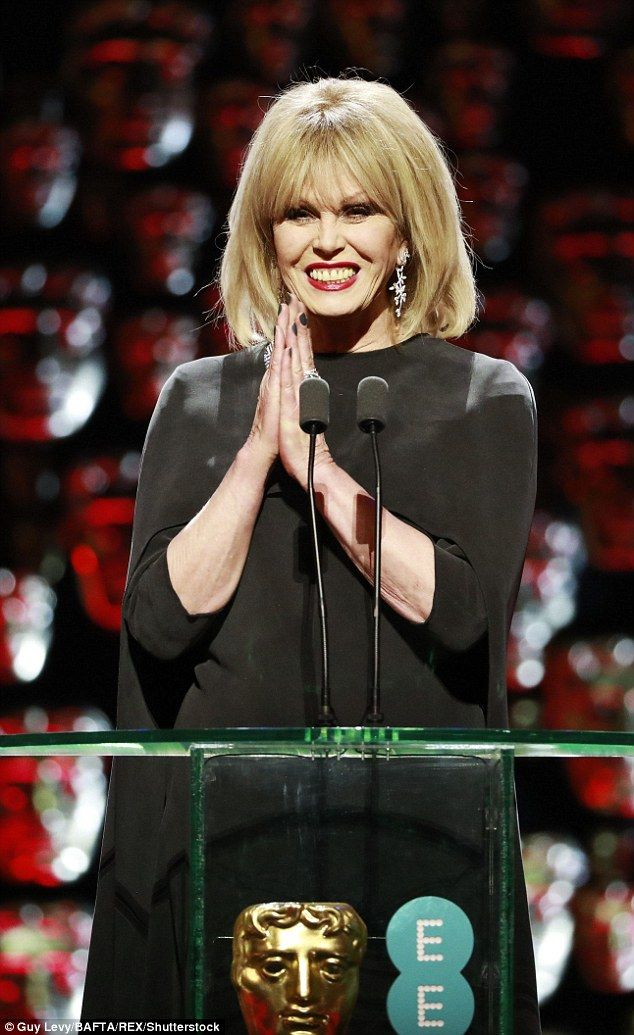 National treasure: Joanna Lumley, 71, took over hosting duties from Stephen Fry on Sunday ...