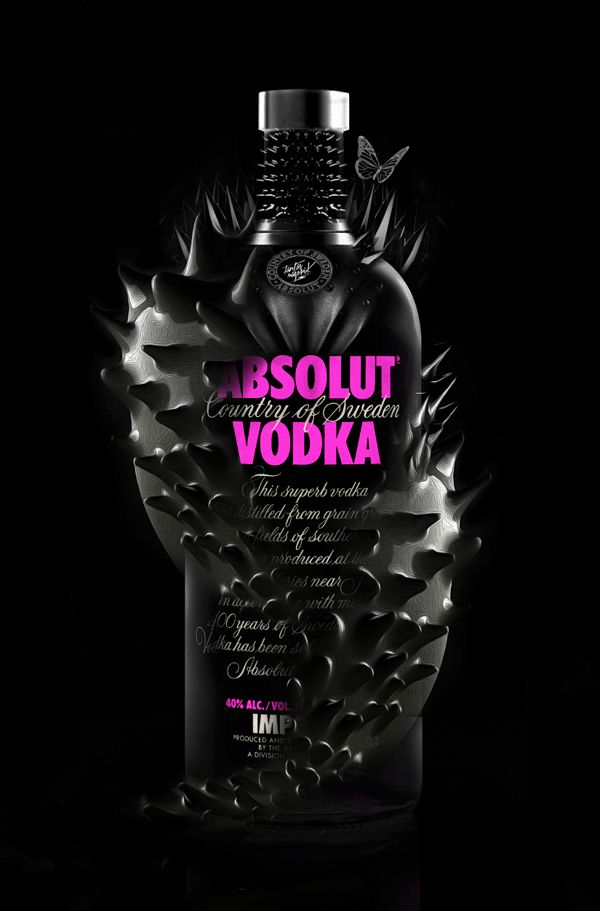 FANTASMAGORIK® #ABOSLUT by obery nicolas, via Behance Like it or hate it #vodka #packaging PD