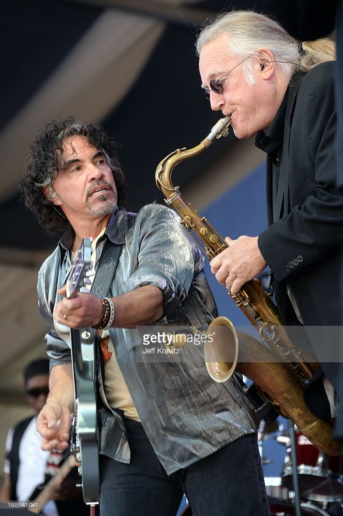 John Oates of Hall & Oates performs during the 2013 New Orleans Jazz & Heritage Music Festival at Fair Grounds Race Course on May 5, 2013 in New Orleans, Louisiana.
