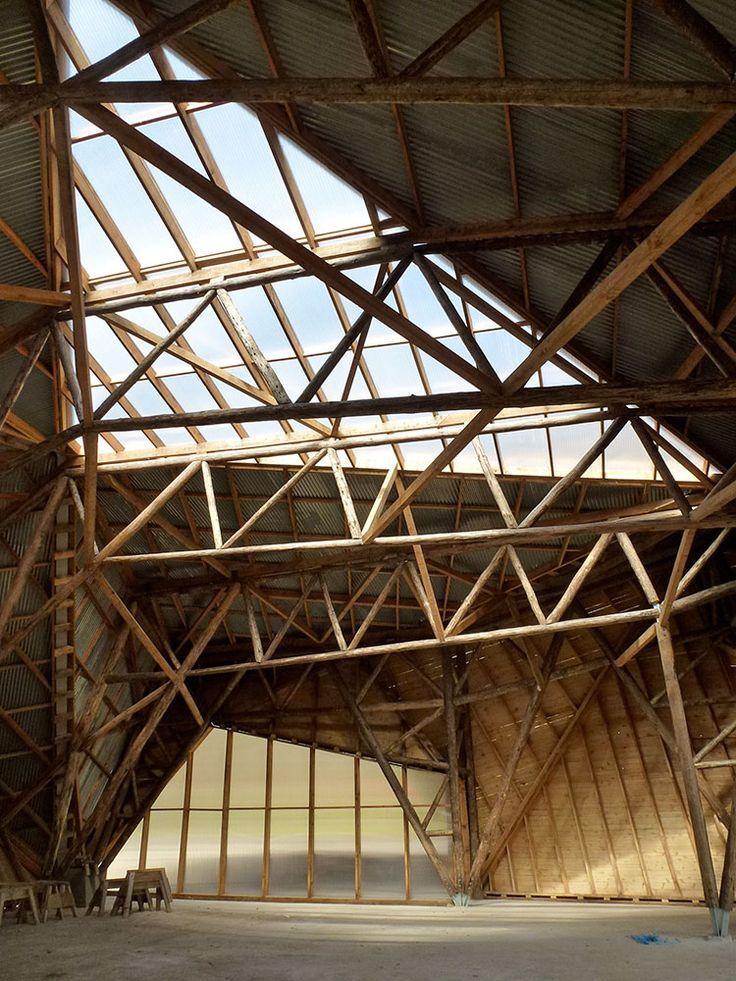 monolithos: remash: hooke park big shed ~ invisible studio