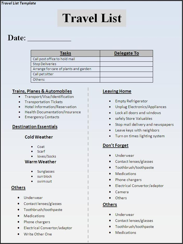 trip checklist template koni polycode co
