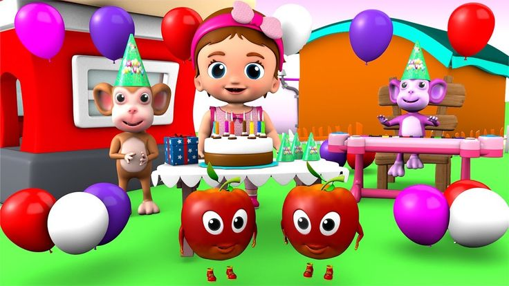 Happy Birthday Song for Kids Children Toddlers Fun Video - Baby Birthday...