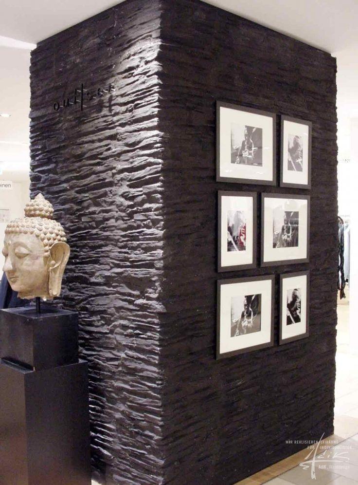 25+ best ideas about steinwand wohnzimmer on pinterest | tv wand ... - Schiefer Wand Wohnzimmer