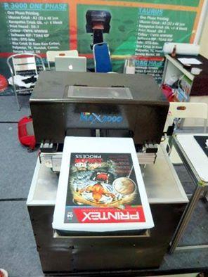 Cover Majalah Printex diprint diatas kaos Gildan dengan printer DTG karya anak bangsa...TDAG #pameran #IAPE #printex #Bali