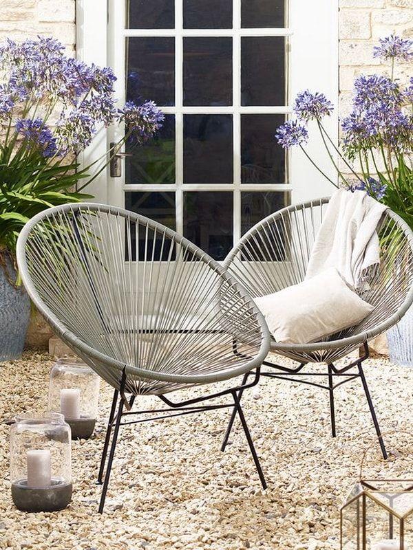 silla de diseño de terraza