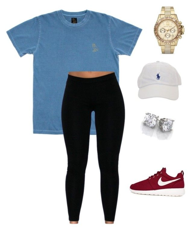 LIKE AND I WILL FOLLOW  by layshalove ❤ liked on Polyvore featuring Octobers Very Own, NIKE and Michael Kors
