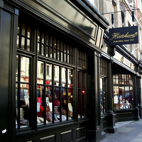 Hatchards Bookshop, founded by John Hatchard in 1797. Hatchards is the oldest bookshop in London. Photo by Swiv on flickr