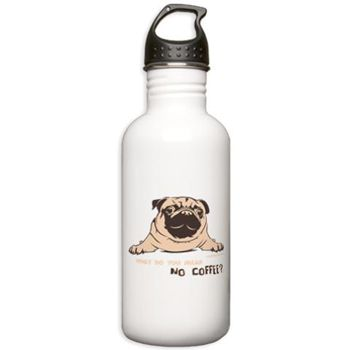 Pug Sports Stainless Water Bottle 1.0l By Pugdelicious http://www.cafepress.com.au/deliciouspugshop.1720273076
