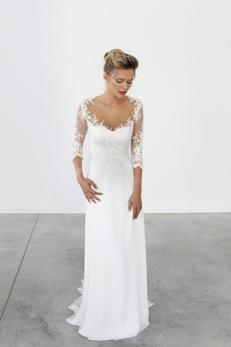 25 best ideas about older bride dresses on pinterest for Mature wedding dresses with sleeves