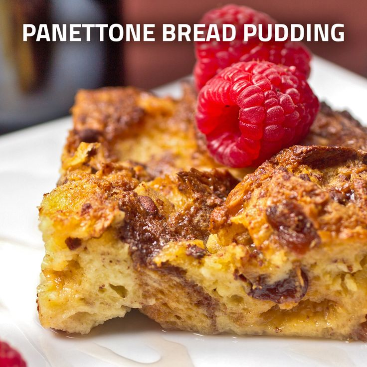 Panettone Bread Pudding- A traditional Italian favorite.
