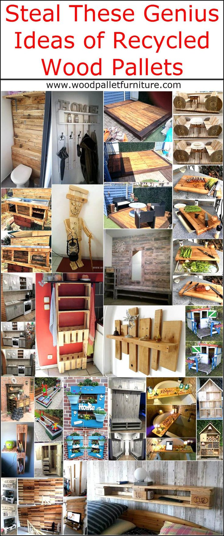 Stealing something sometimes is good, just like the ideas with which one can create the products for the home. We know the fact that the used materials can be used again in some cases and wood pallets are one of the materials that can be reshaped easily w