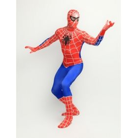 red and blue Spiderman Costume