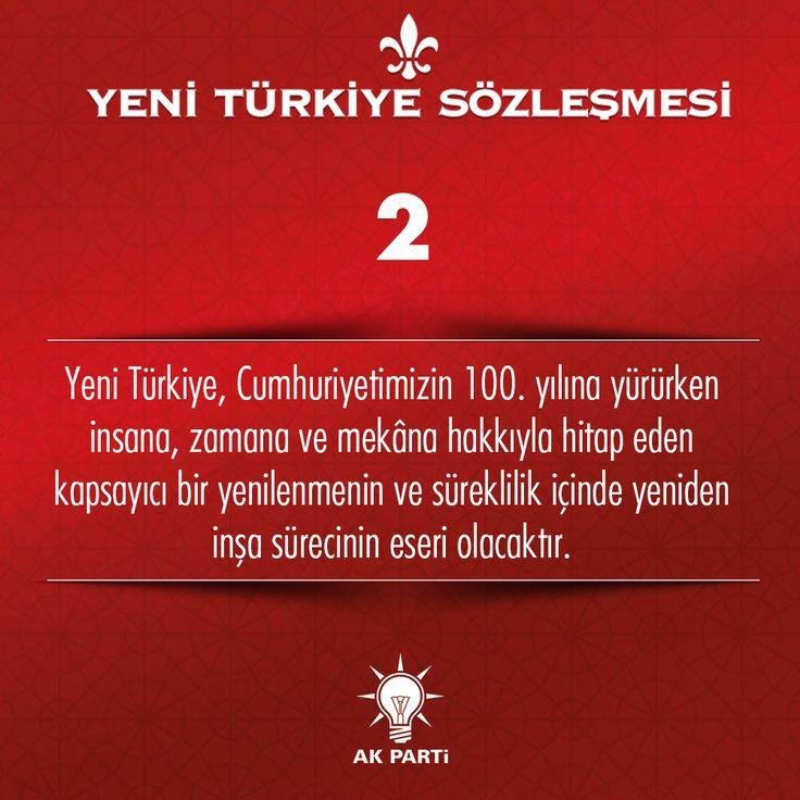 2.Madde, #YeniTürkiyeSözleşmesi