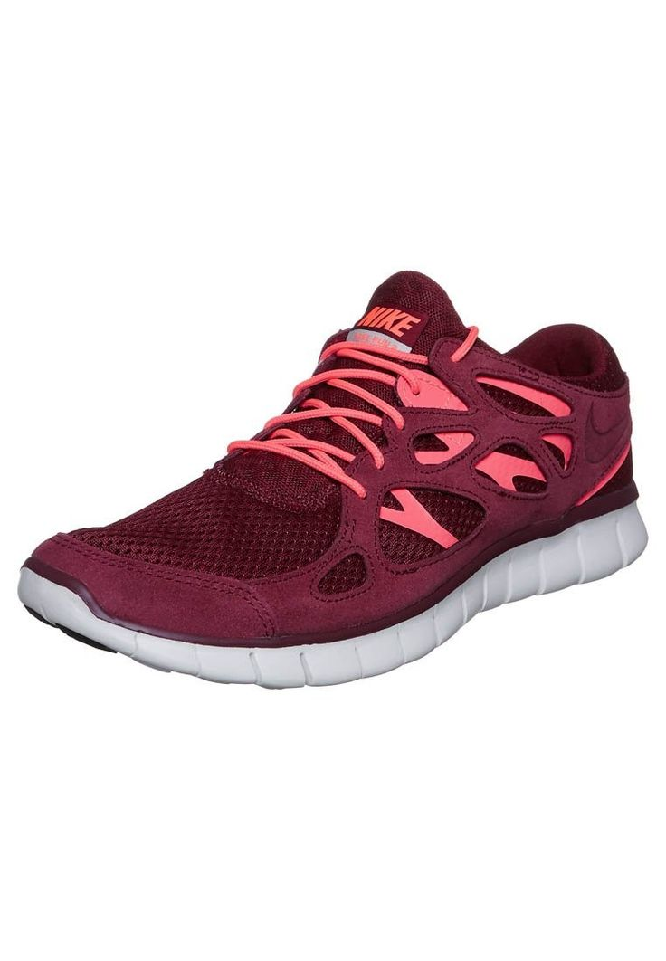 Pas cher France Nike Free Run 2 Pour Homme Sneakers Bourgogne Coral Rose Blanc