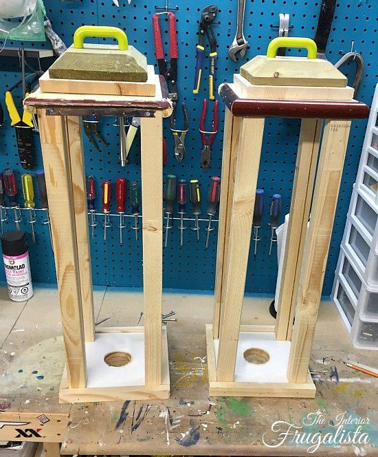 Large diy outdoor holiday lanterns diy projects for Wooden garden lanterns