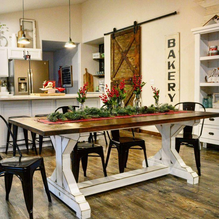 The Ultimate Farmhouse table. This twotone farmhouse