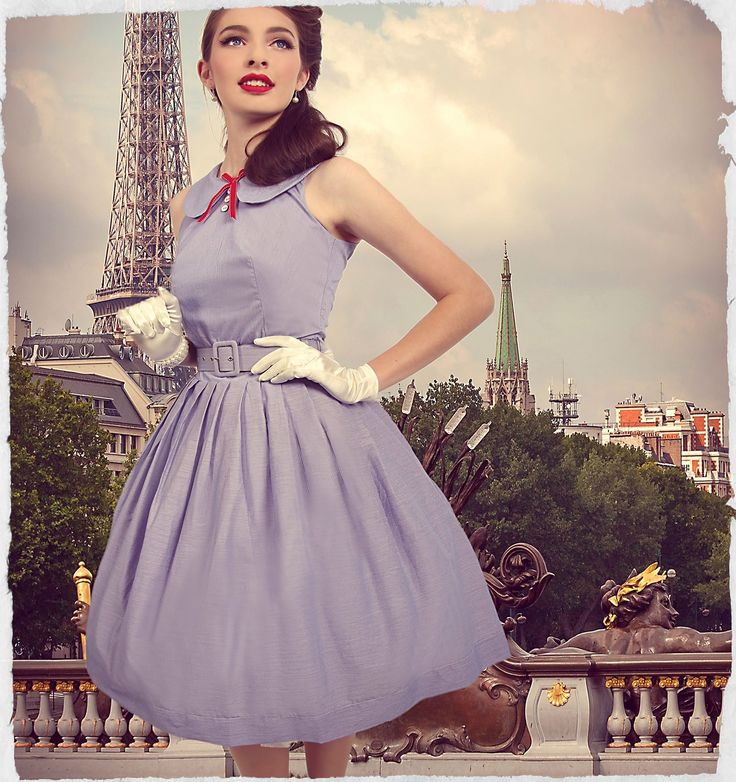 Picnic in Paris Belted Dress