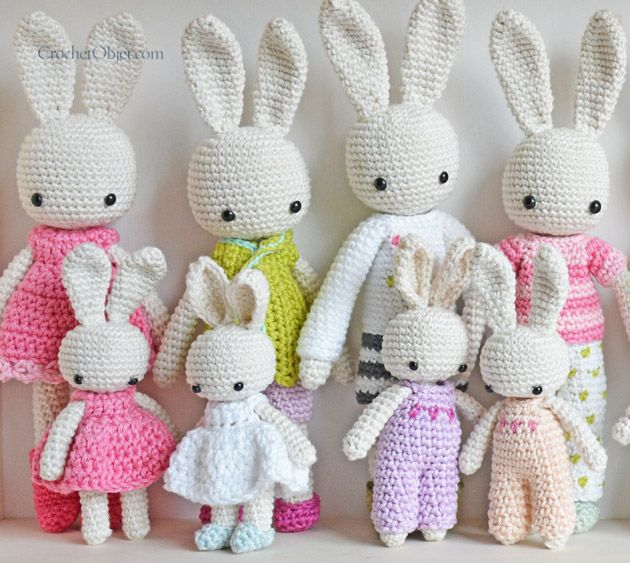 3 Dots Overall :: A free crochet pattern for baby bunny – CrochetObjet by MoMalron
