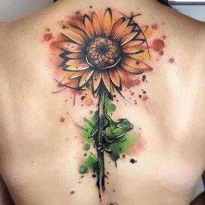 Tatuaje de girasol en la espalda. en 2020 | Tatuajes, Tatuajes femeninos, Tatuajes girasoles