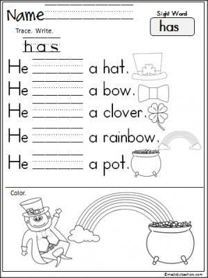 ... Patty, Kindergarten March, Kindergarten Worksheet, Himself, Sight Word